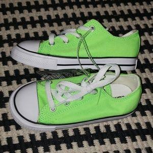 Green Converse.